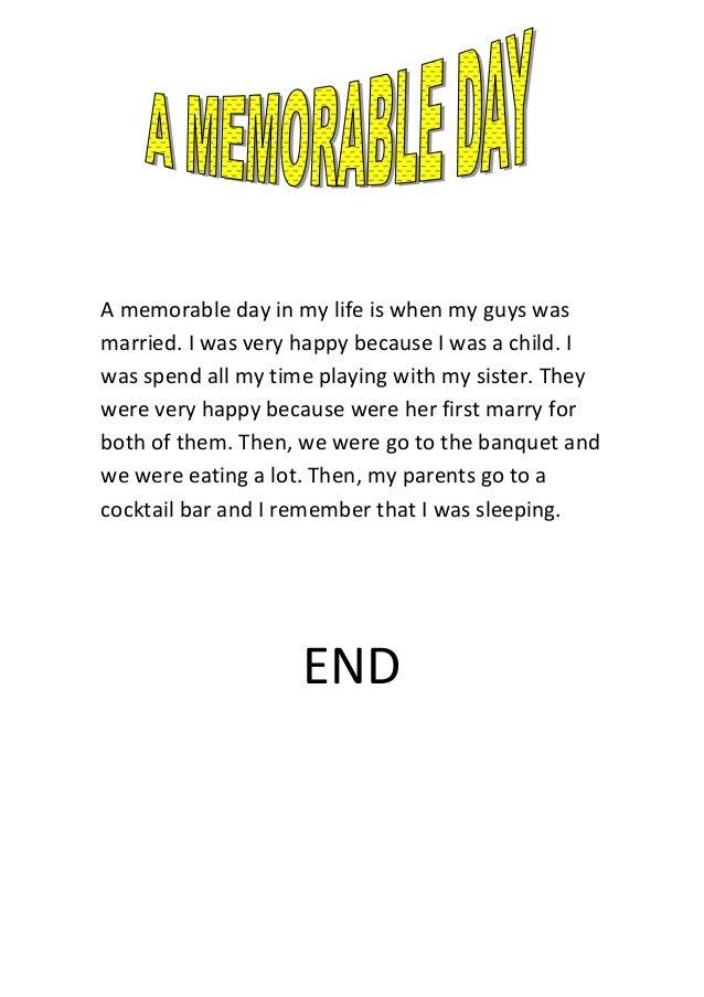 Memorable day essay