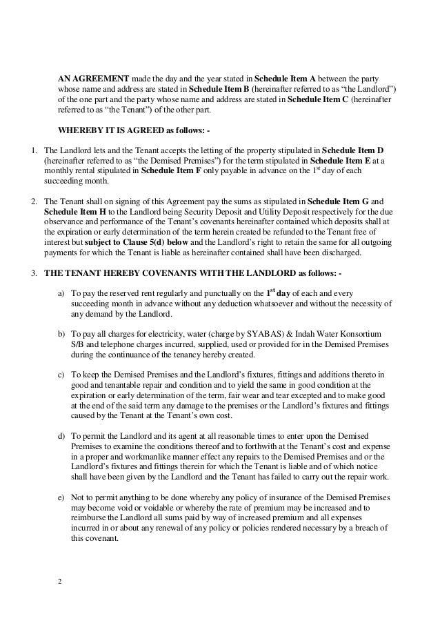 1 Year Lease Agreement Alberta
