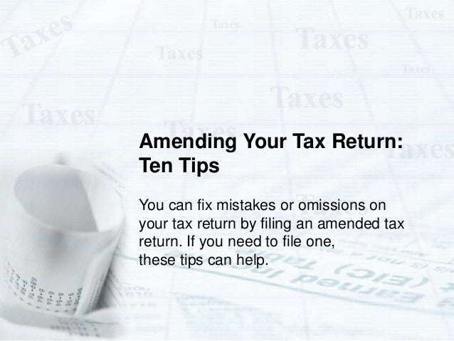 how to get an amended tax return