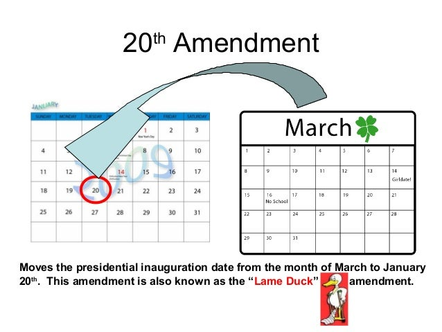 President George Washington Amendments