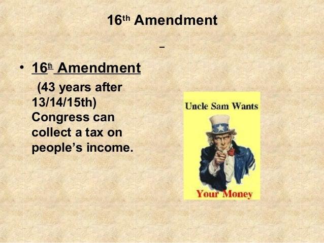 16th Amendment 16th Amendment 16th