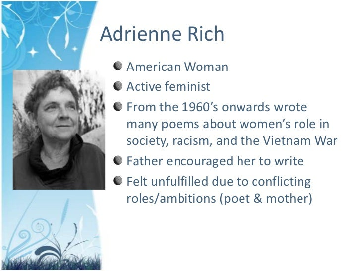 poetry of adrienne rich essays