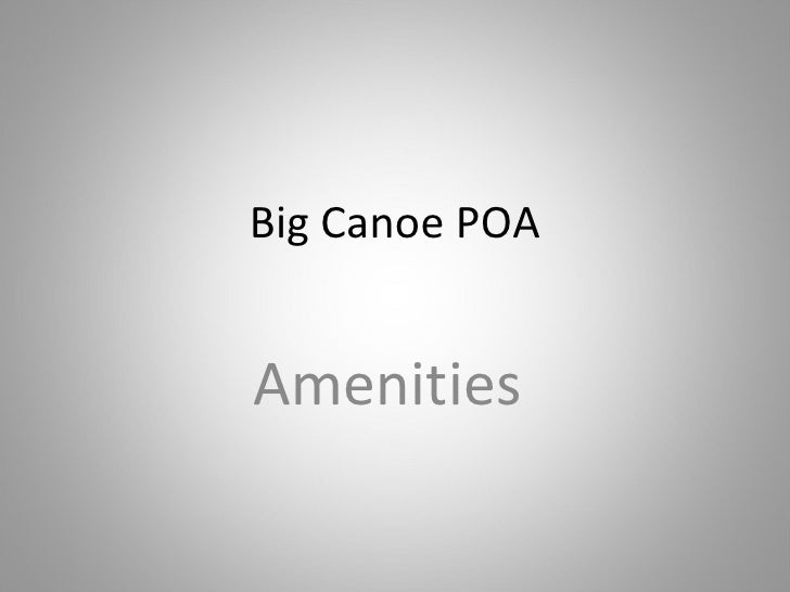 Big Canoe POA Amenities