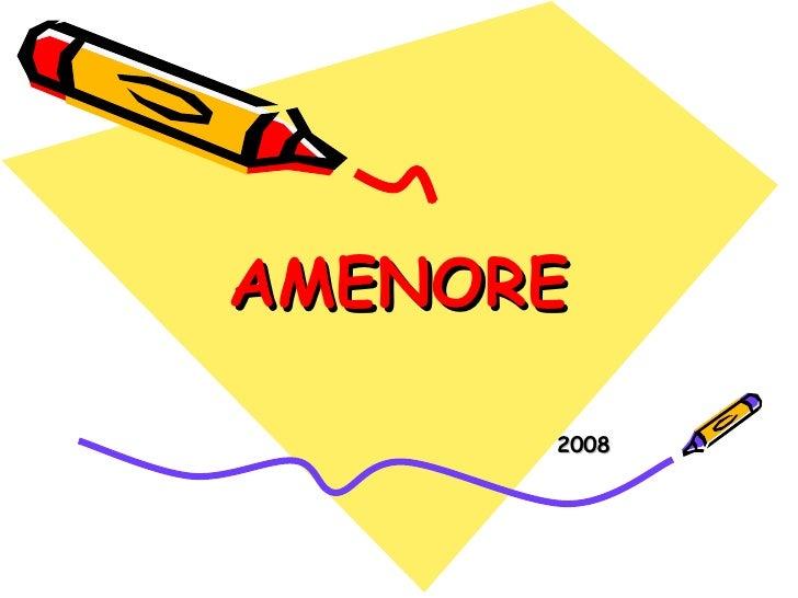 AMENORE 2008