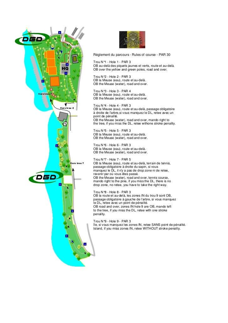 8                                                 Réglement du parcours - Rules of course - PAR 30                        ...