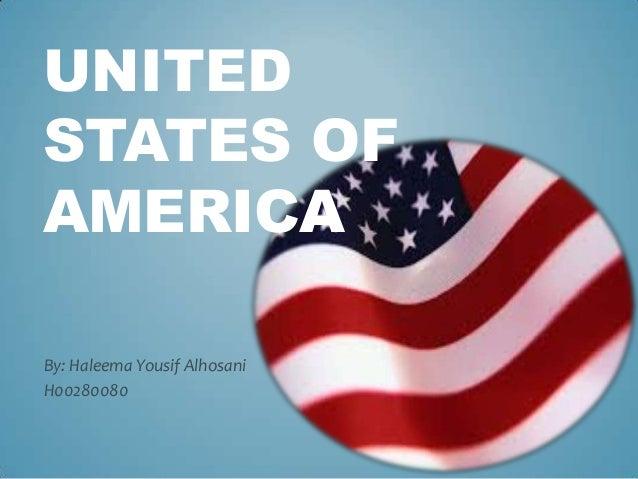 UNITED STATES OF AMERICA By: Haleema Yousif Alhosani H00280080