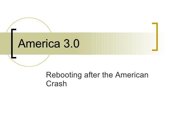 America 3.0 - Jonathan Taplin