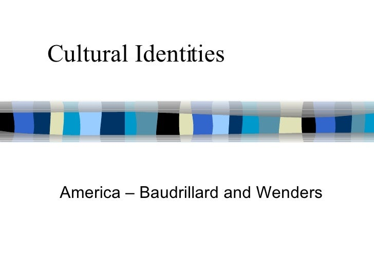 America - Baudrillard and Wenders