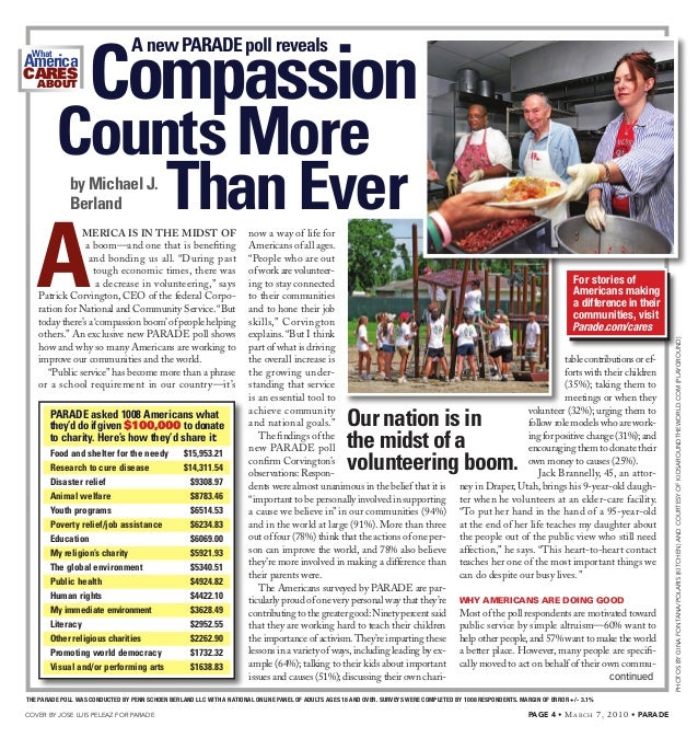 Compassion Counts More Than Ever For Americans: Survey By Penn Schoen Berland