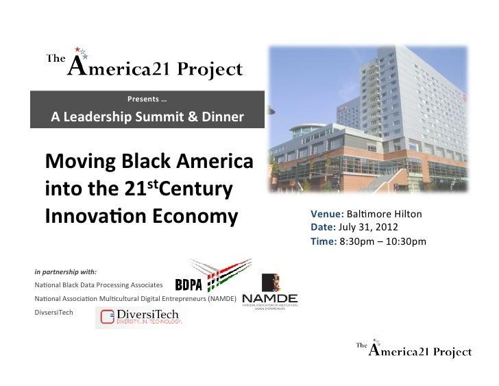 America21-BDPA Innovation Leadership Summit Dinner - final