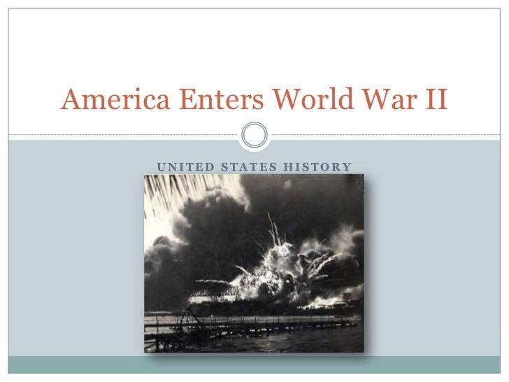 america enters the world war