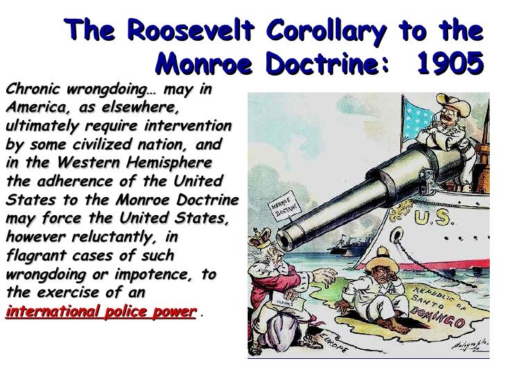 roosevelts corollary to the monroe doctrine essay