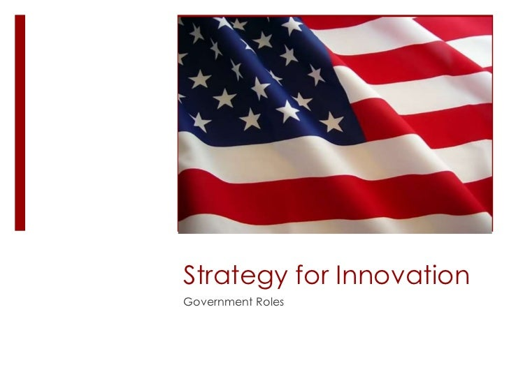 Strategy for Innovation Government Roles