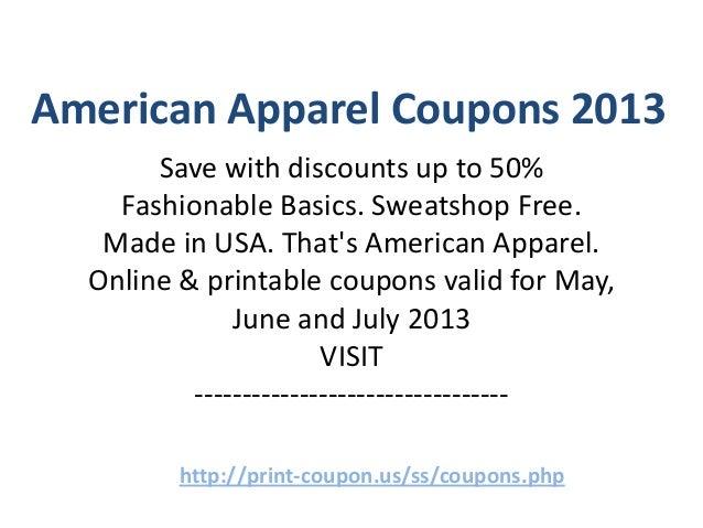 American apparel coupons december 2018