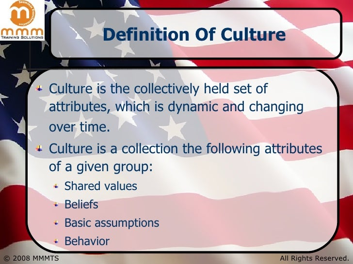 the definition of being american what is american culture Such examples could be multiplied indefinitely, but the underlying value structures and ideas which comprise us-american cultural values can be reduced to a relatively few general themes l robert kohls enumerated such a list in his article, values americans live by do you want to read his list if so, click here: values.
