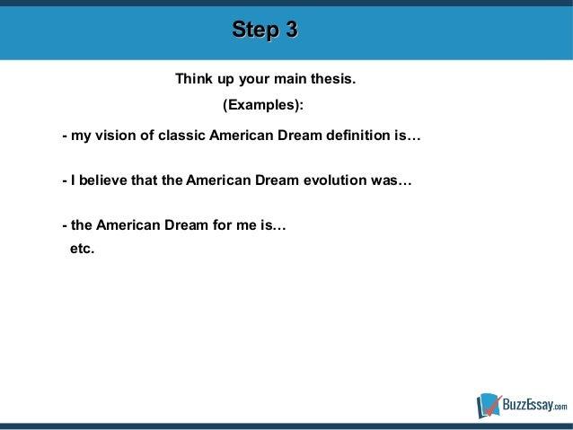 My American dream essay?