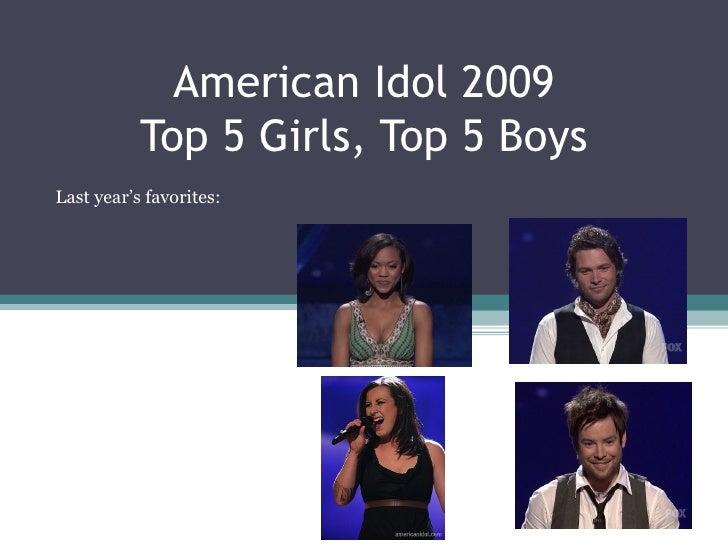 American Idol Season 8 Top 5 Girls and Boys