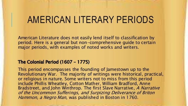american literature the meaning of american