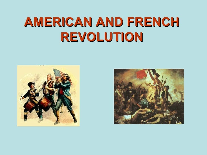 American and french revolution2