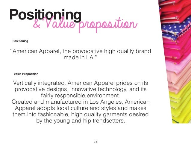 swot for american apparel Swot analysis on american apparel : american apparel (amex: app) is the largest clothing manufacturer in the united states[4] it is a vertically integrated clothing manufacturer, wholesaler, and retailer that also performs its own design, advertising, and marketing.