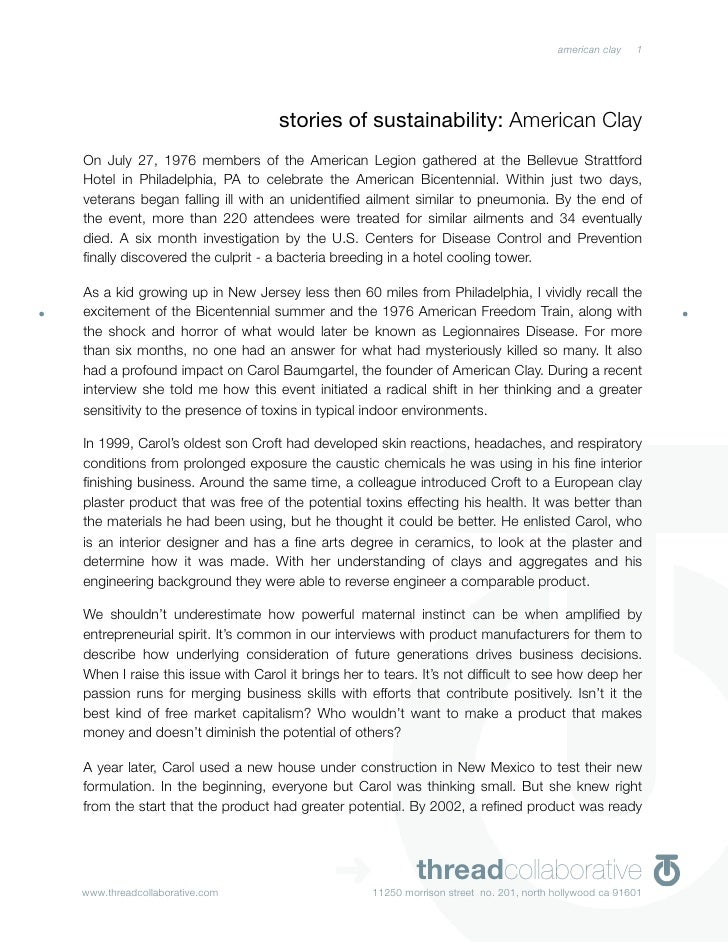 american clay   1                                      stories of sustainability: American Clay On July 27, 1976 members o...