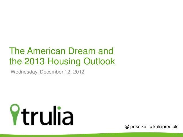 Trulia's American Dream Survey, Winter 2012