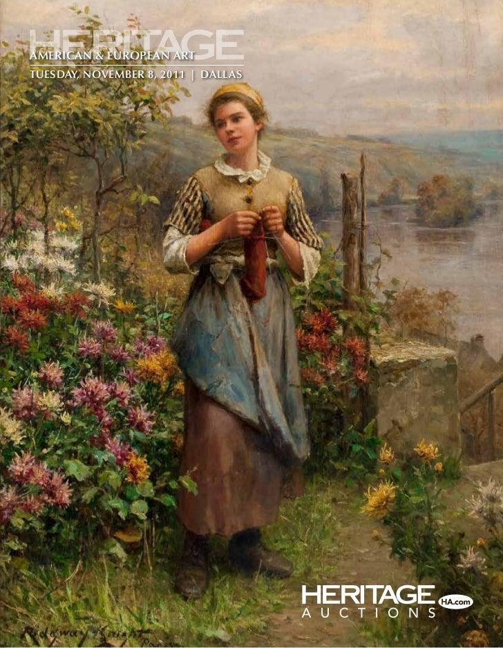 Heritage Auctions Fine Art Auction - American & Eurropean Art Auction 5069 catalog - Dallas, Texas