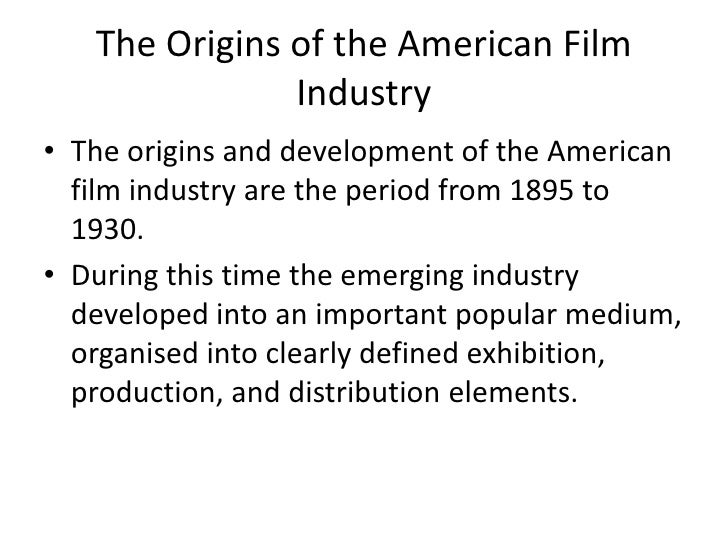 the structure of american film industry essay American history x film study american history x is a movie with a genre of from that single film the american pornographic movie industry took off.