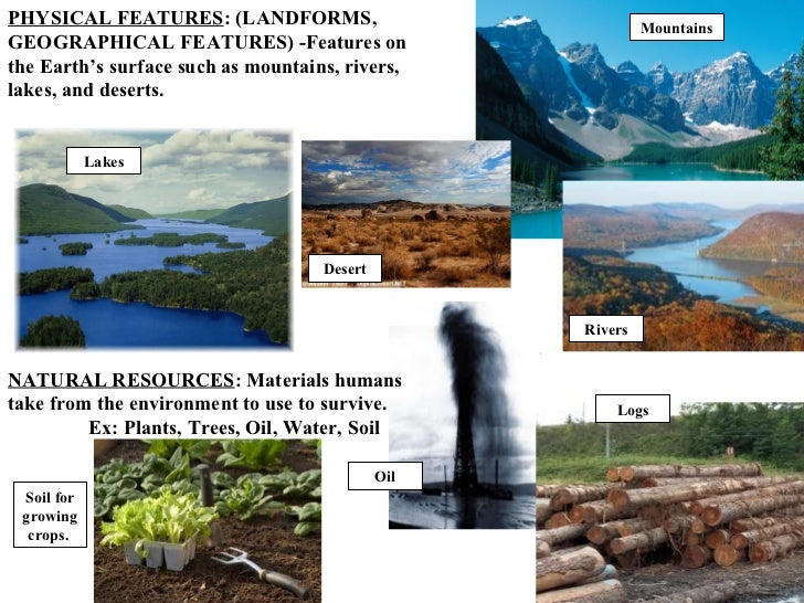 Study Of The Earth S Natural Features