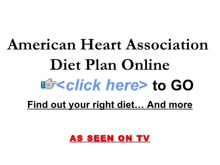 heart association diet: