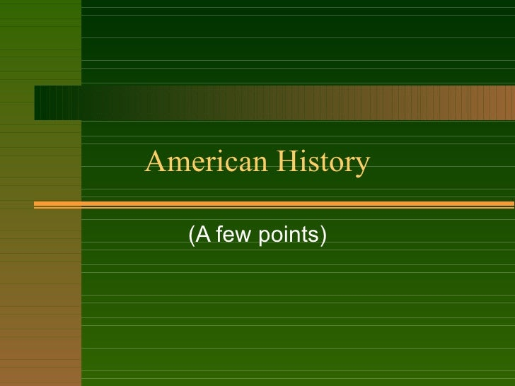 American History 9a