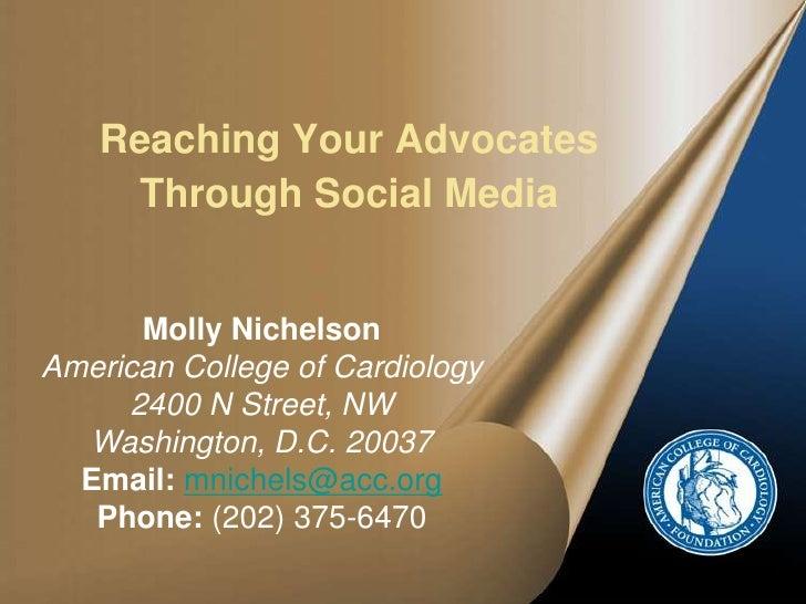 American League of Lobbyists Presentation on Social Media