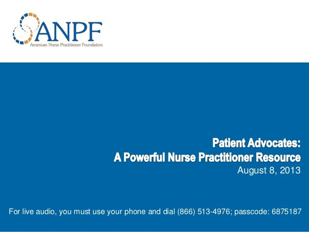 Patient Advocates: A Powerful Nurse Practitioner Resource 2