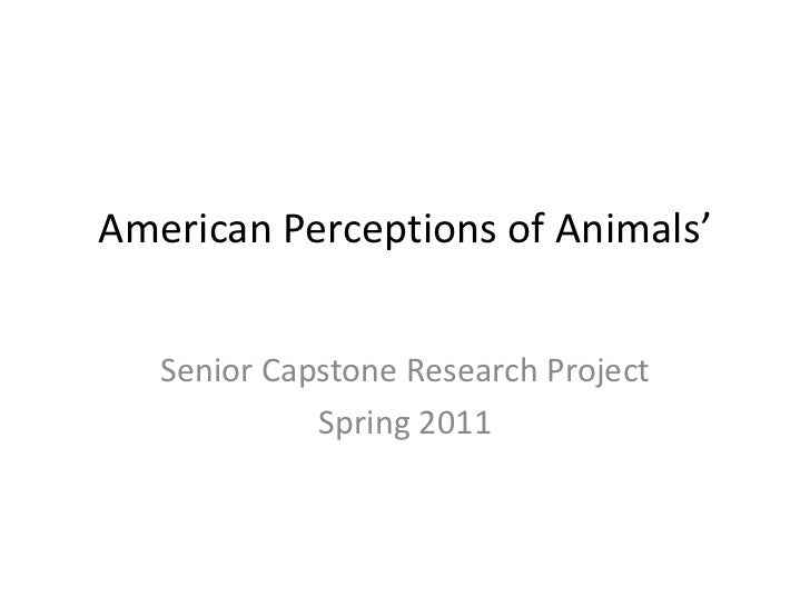 American Perceptions of Animals'<br />Senior Capstone Research Project<br />Spring 2011<br />