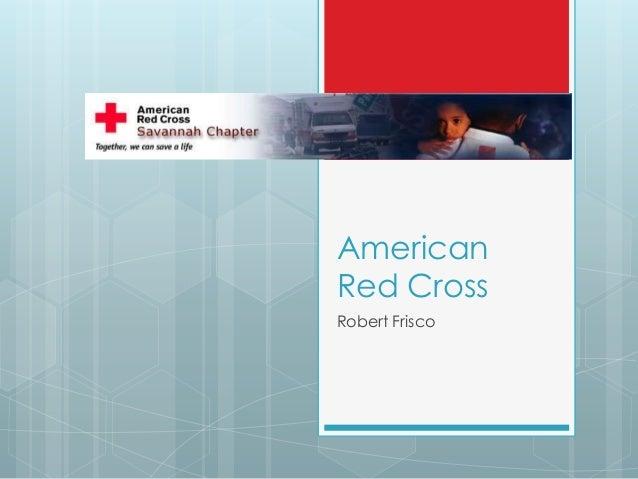 American Red Cross Robert Frisco