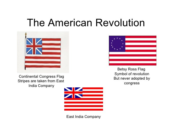 The American Revolution Continental Congress Flag Stripes are taken from East  India Company Betsy Ross Flag  Symbol of re...