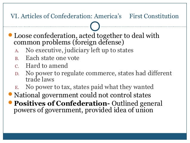 thesis about articles of confederation