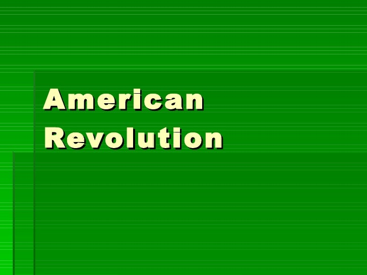 American Revolution[1]