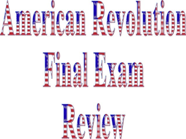 American revolution review pp
