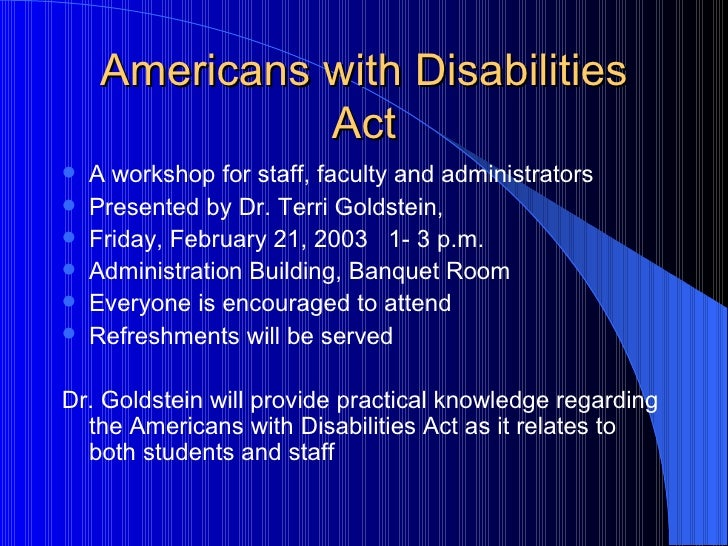 essay on american with disability act The americans with disabilities act (ada) essay writing service, custom the americans with disabilities act (ada) papers, term papers, free the americans with.