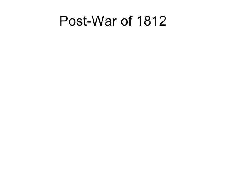 Post-War of 1812