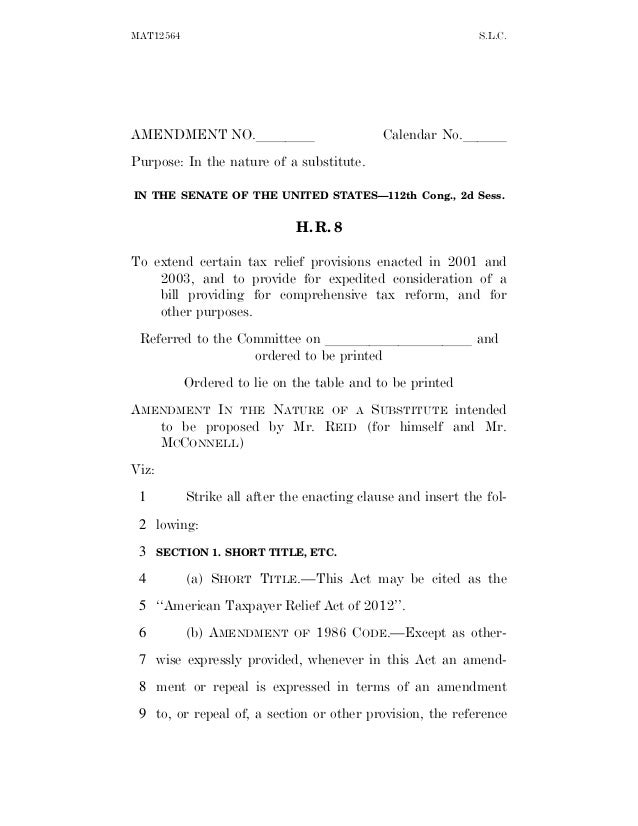 MAT12564                                                      S.L.C.AMENDMENT NO.llll                            Calendar ...