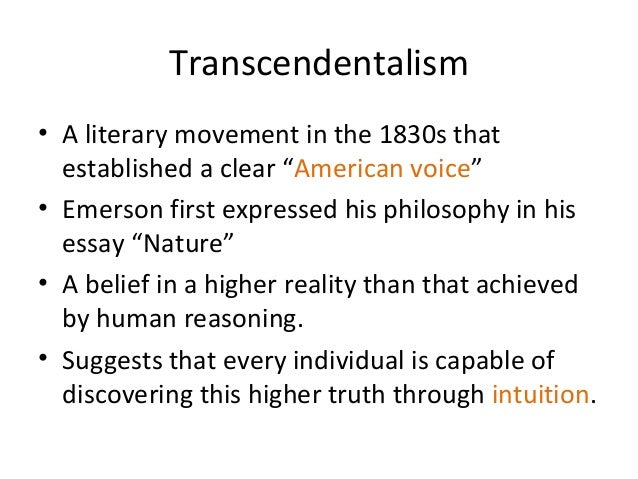 transcendentalism essay topics Research within librarian-selected research topics on transcendentalism from  the questia online library, including full-text online books, academic journals,.