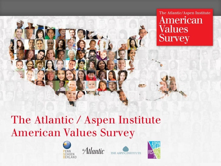 The Atlantic / Aspen Institute    American Values Survey1