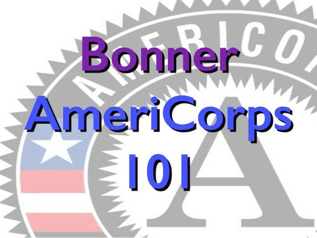 Bonner  AmeriCorps  101