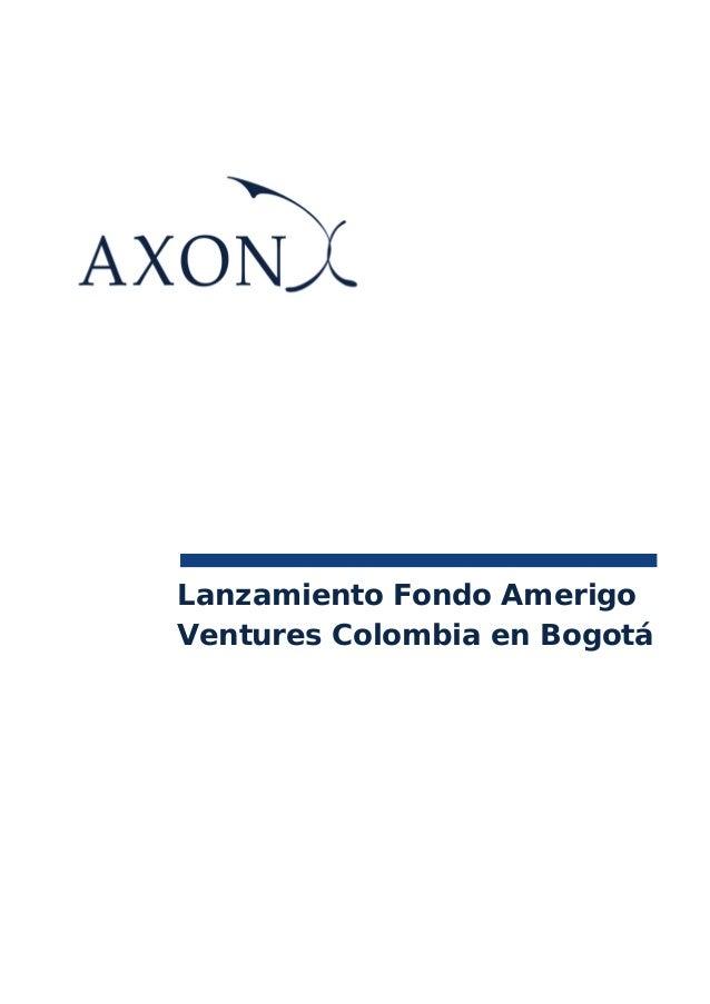 Lanzamiento Fondo AmerigoVentures Colombia en Bogotá
