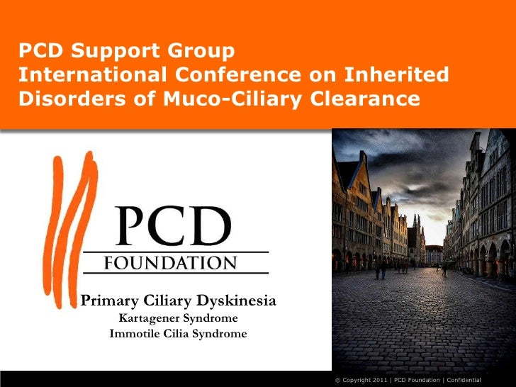 PCD Support GroupInternational Conference on Inherited Disorders of Muco-Ciliary Clearance <br />Primary Ciliary Dyskinesi...