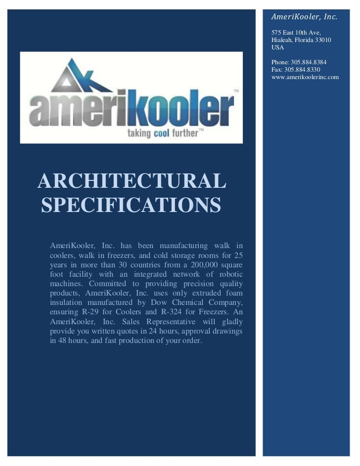 AmeriKooler, Inc.                                                            575 East 10th Ave,                           ...