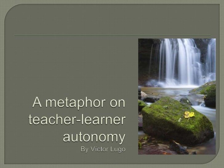 A metaphor on teacher learner autonomy