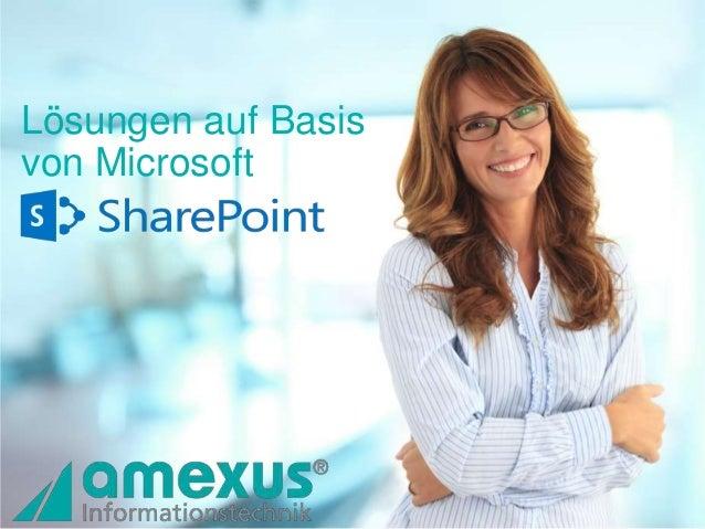 Überblick der amexus SharePoint Lösungen
